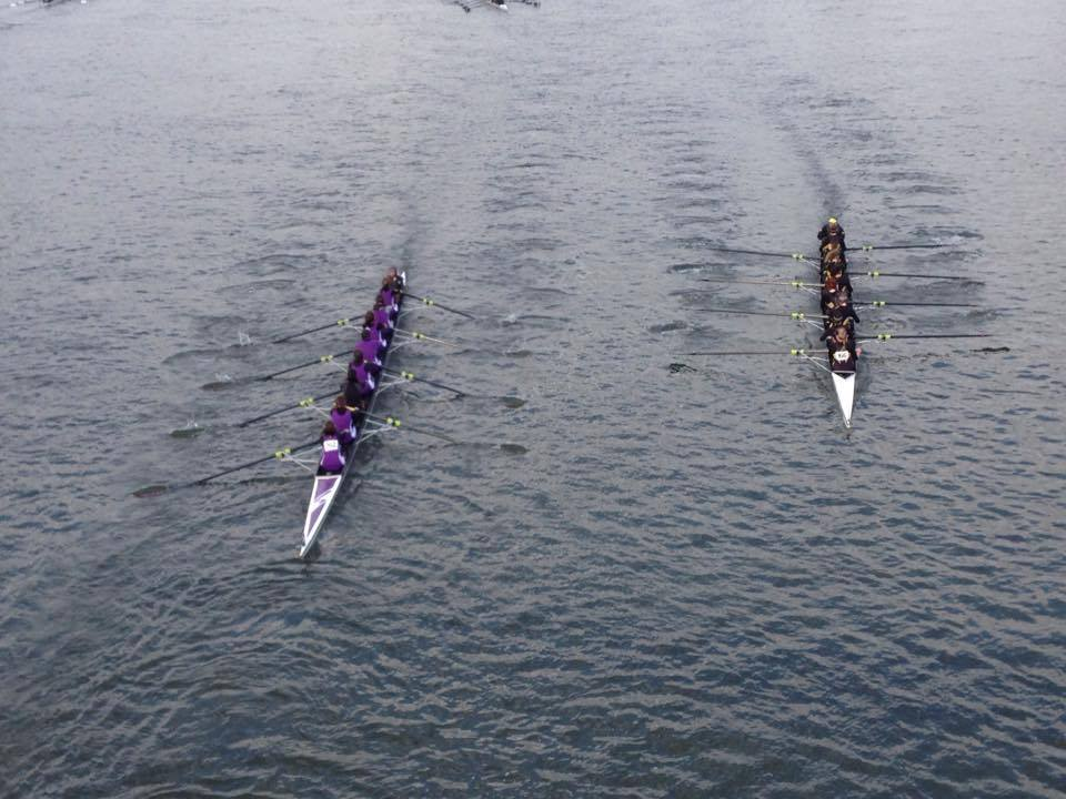 W1 racing under Hammersmith Bridge